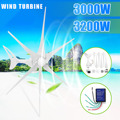 3200/3000 W viento para generador de turbina 12/24 V 3/6 hojas de viento controlador de viento hogar + bolsa de accesorios de montaje