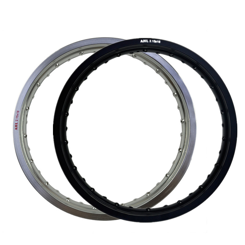 АГЛ 6061 авиационного алюминия сзади 2.15X18 36 говорил мотоциклетные Диски колесо Круг Отверстие 215X18 2.15 18 высокая прочность черный и серебристый
