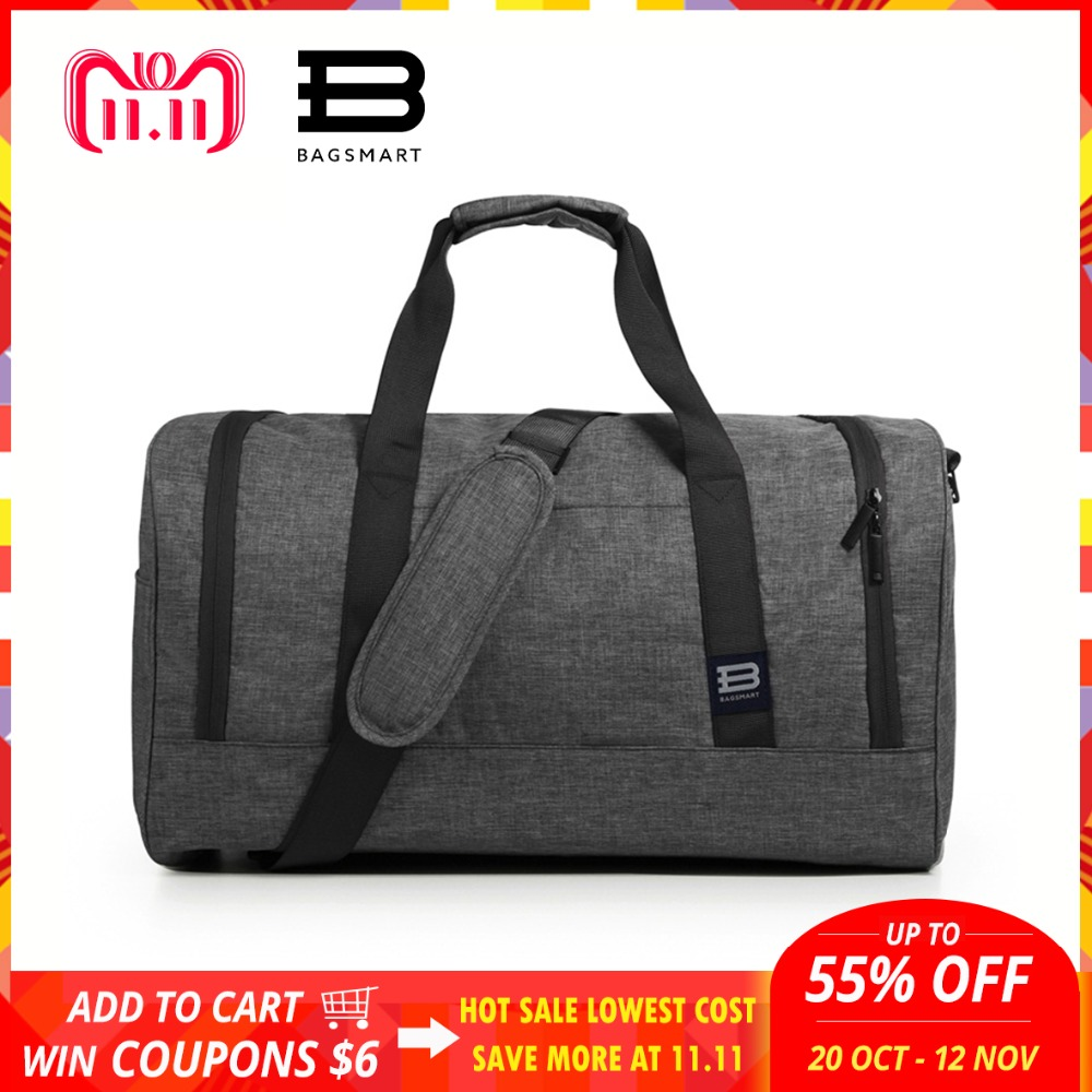 BAGSMART New Travel Bag Large Capacity Men Hand Luggage Travel Duffle Bags Nylon Weekend Bags Multifunctional Travel Bags tuguan new travel bag large capacity men hand luggage travel duffle bags oxford fabric weekend bags backpack travel bags