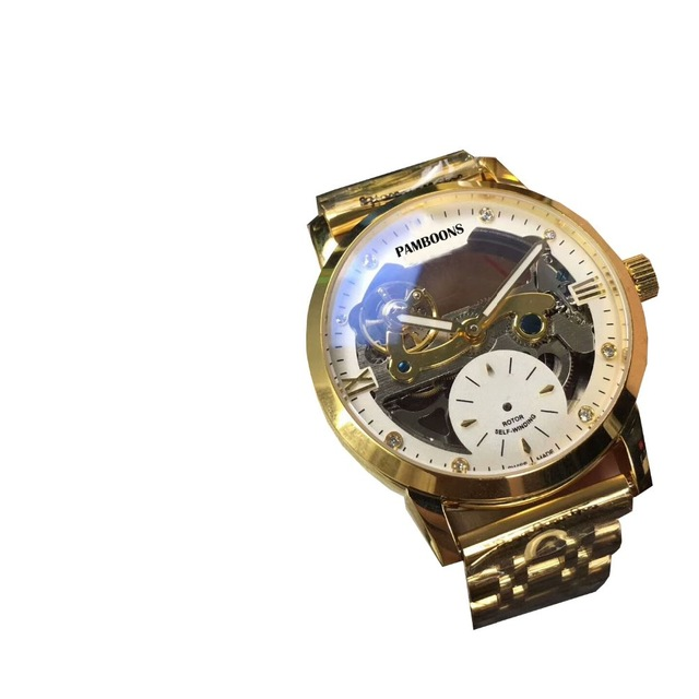 Business Watches Mechanical Men Skeleton Tourbillon Automatic Watch Men Gold Steel Calendar Waterproof Relojes Hombre цена