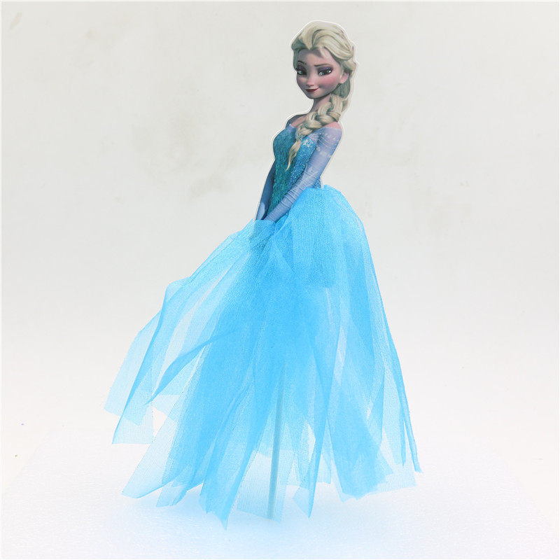 Anna elsa aurora princess birthday decoration cupcake cake for Anna decoration in home