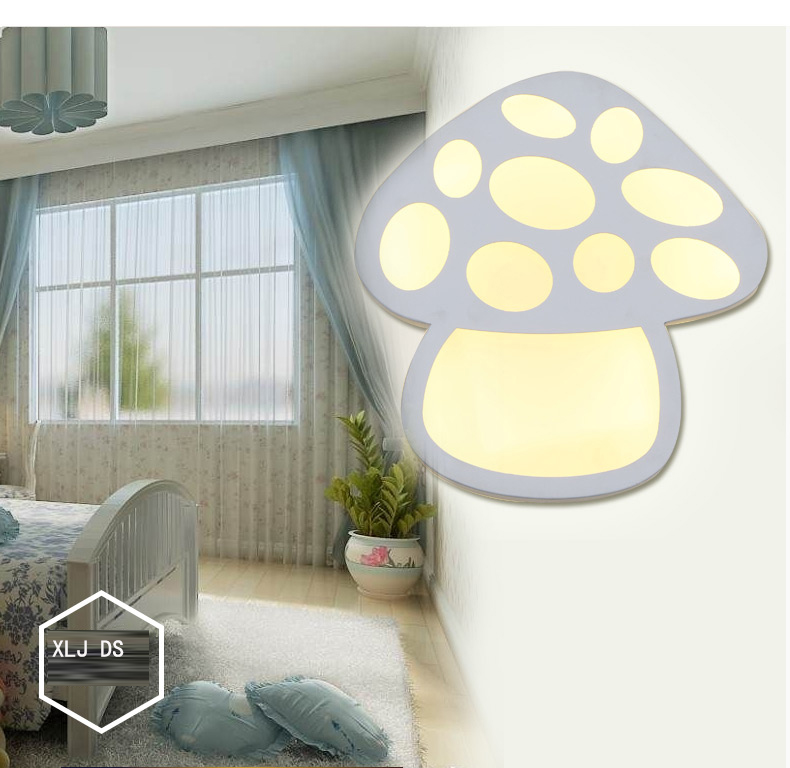 Dia.25cm Mushroom shape LED wall lamp bedside lamp modern living room corridor hallway stairs Pathway Sconce Lighting