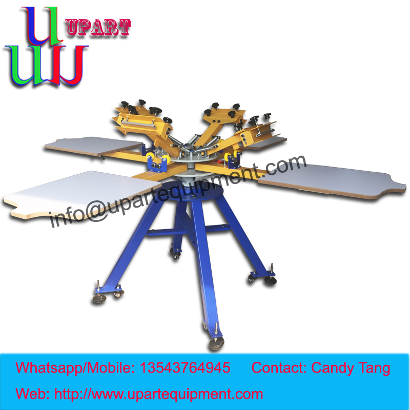 hand 4 color 4 station carousel screen printing machine for clothes,manual screen printing machine for clothes  цены