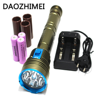 30000 Lumens LED Diving light 9xL2 Waterproof lamp Submersible lamp Work underwater Torch Diving light+3*26650 battery/Charger