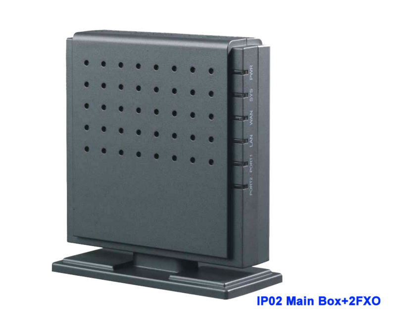 IP02 - 2O Analog trunk Asterisk Ready Small  FXS FXO IP PBX with Module for 2 FXO Ports Supports 1~2 FXS or FXO VoIP PBXIP02 - 2O Analog trunk Asterisk Ready Small  FXS FXO IP PBX with Module for 2 FXO Ports Supports 1~2 FXS or FXO VoIP PBX