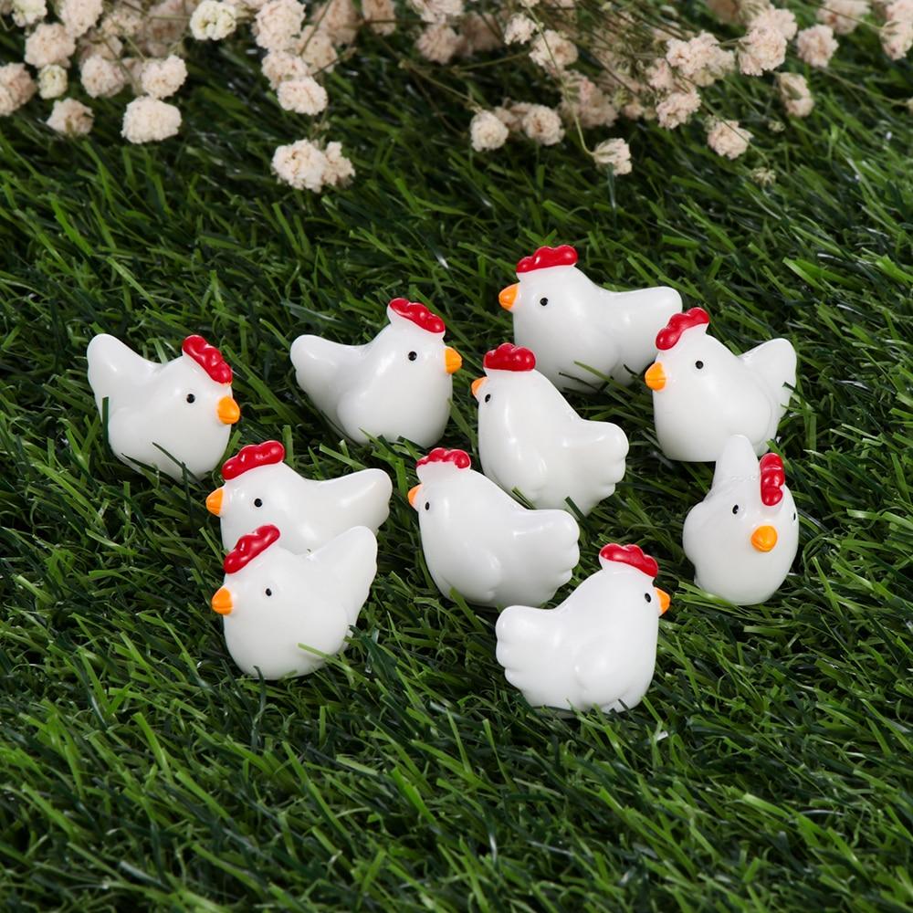 Decoration Cartoon Chicken Miniature Figurine Garden Ornaments Easter Party