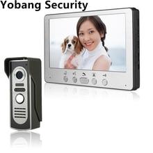 Yobang Security Freeship 7 Inch Color Video Door Phone Video Door bell Intercom Monitor Kit IR Night Vision Camera Doorbell