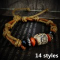 2017 New Hot Sale Fashion handmade tibetan vintage ceramic bracelet bangle Ethnic Wristband cuff jewelry women men best  gift