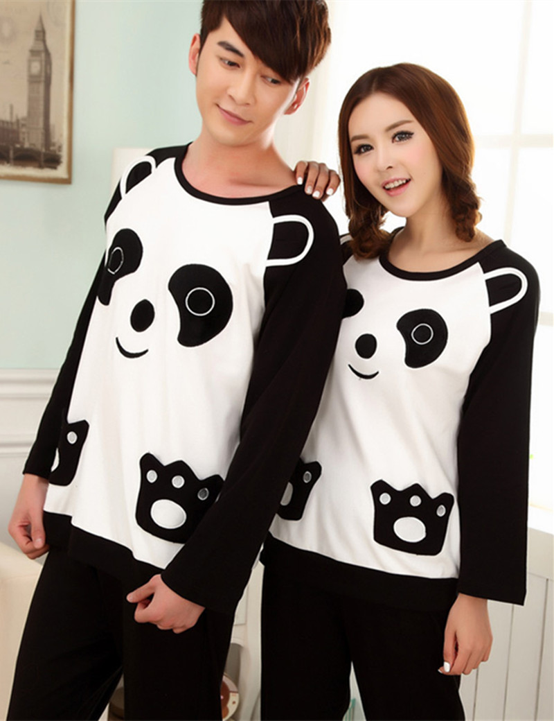 primark pyjamas women panda couple pajamas animal sets pyjama femme cotton men and women 2015. Black Bedroom Furniture Sets. Home Design Ideas