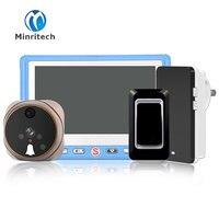 Новый 4.3 HD ЖК дисплей Дверные звонки просмотра цифровой дверной глазок 120 градусов Дверь глаз Запись видео ночного видения глазок + Беспрово