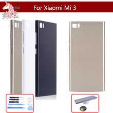 10pcs/lot For Xiaomi Mi3 M3 Mi 3 Back Battery Cover Door Rear Housing Case Replace with Side Button