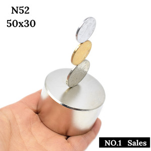 Image 2 - 자석 1 개/몫 N52 50x30mm 뜨거운 둥근 강한 자석 희소 한 지구 N35 N40 D40 60mm 네오디뮴 자석 강력한 영구 자석