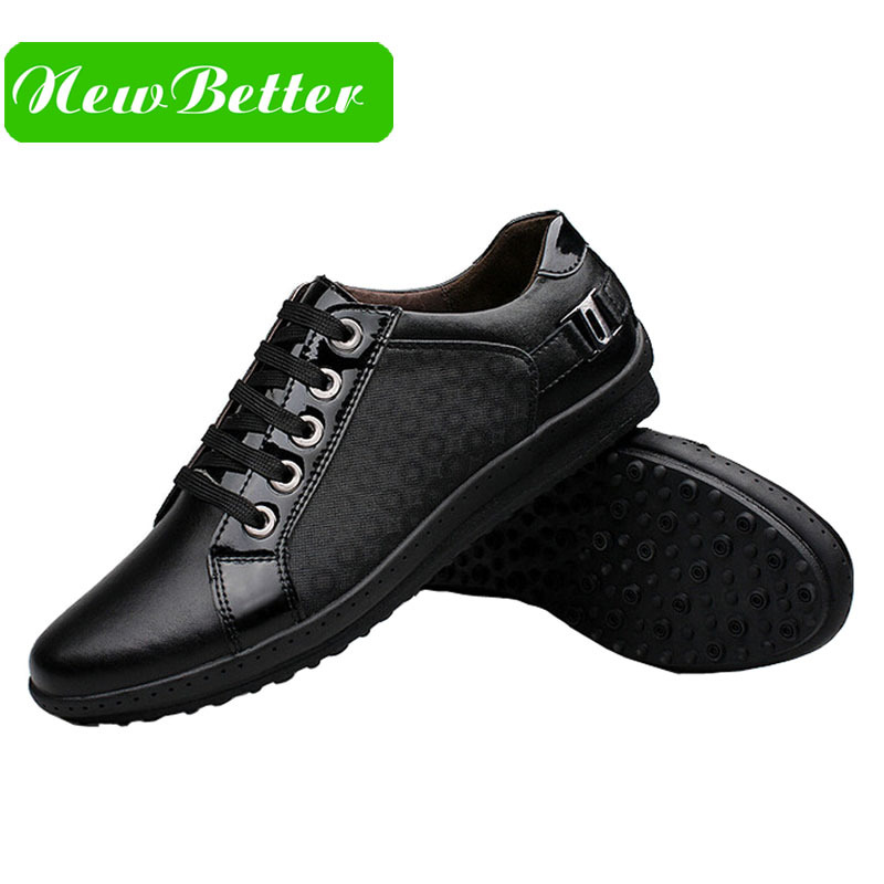 luxury shoes fashion black lace up leather casual