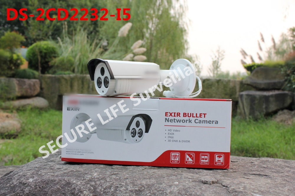 Free shipping DS-2CD2232-I5 3MP english version ,3MP EXIR Bullet Camera w/POE,3D DNR Network IP camera dhl free shipping english version ds 7108ni e1 v w embedded mini wifi nvr poe 8ch for up to 6mp network ip camera