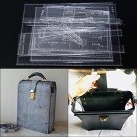 1 комплект 26*33*8 см акрил сумка шаблон прозрачный акриловый кожаный узор DIY хобби пошив кожаных изделий шаблонные трафареты