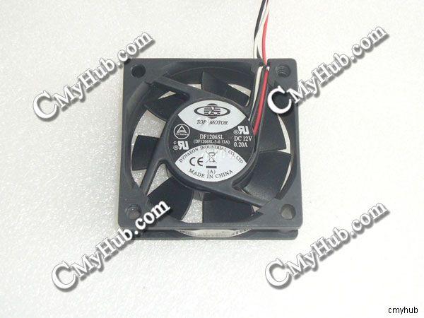Genuine For TOP MOTOR DF1206SL (DF1206SL 3 0.13A) DC12V 0.20A 3pin 3wire 6020 60X60X20MM Cooling