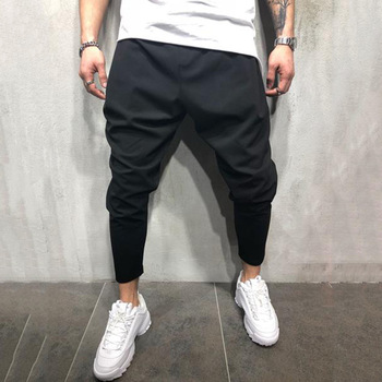 Men's Joggers Pants Streetwear Hip Hop Trousers Casual Harem Pants Male Loose Slim Fitness Soft Plain Narrow Leg Opening Clothes 1