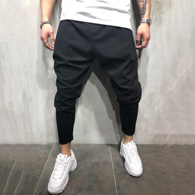 Men's Joggers Pants Streetwear Hip Hop Trousers Casual Harem Pants Male Loose Slim Fitness Soft Plain Narrow Leg Opening Clothes 1