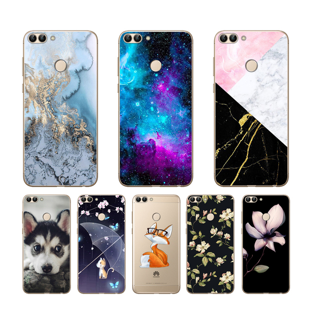 CaseRiver Huawei P Smart Case TPU Soft Silicone Transparent Back Cover Phone Case Huawei P Smart Cover FIG-LX1 Enjoy 7S Case