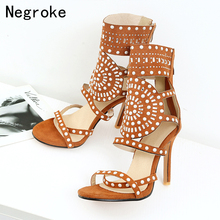 Design Women Sandals Sexy Thin High Heels Summer Shoes Woman Ankle Wrap Stiletto Bridesmaid Bridal Wedding Pumps Sandalias 35-46 shoes wedding pu sexy shoes adornment sexy nubuck leather mature woman shoes ankle wrap flock daily best seller thin high heels