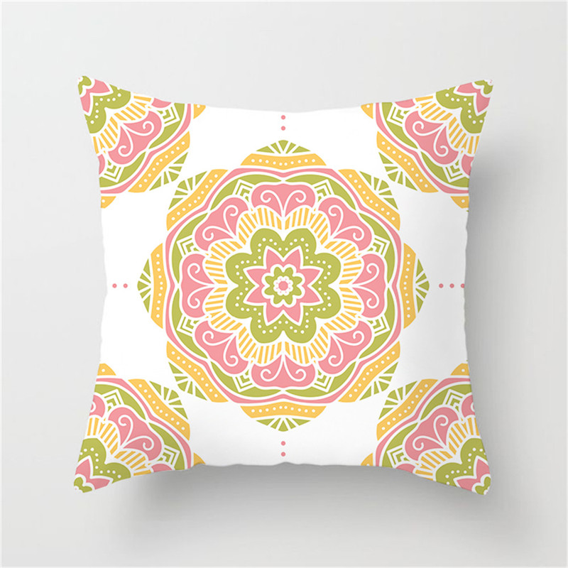 Fuwatacchi Geometric Cushion Cover Tai Chi Colorful Patchwork Floral Pattern Pillow Cover Home Sofa Decorative Pillowcases in Cushion Cover from Home Garden