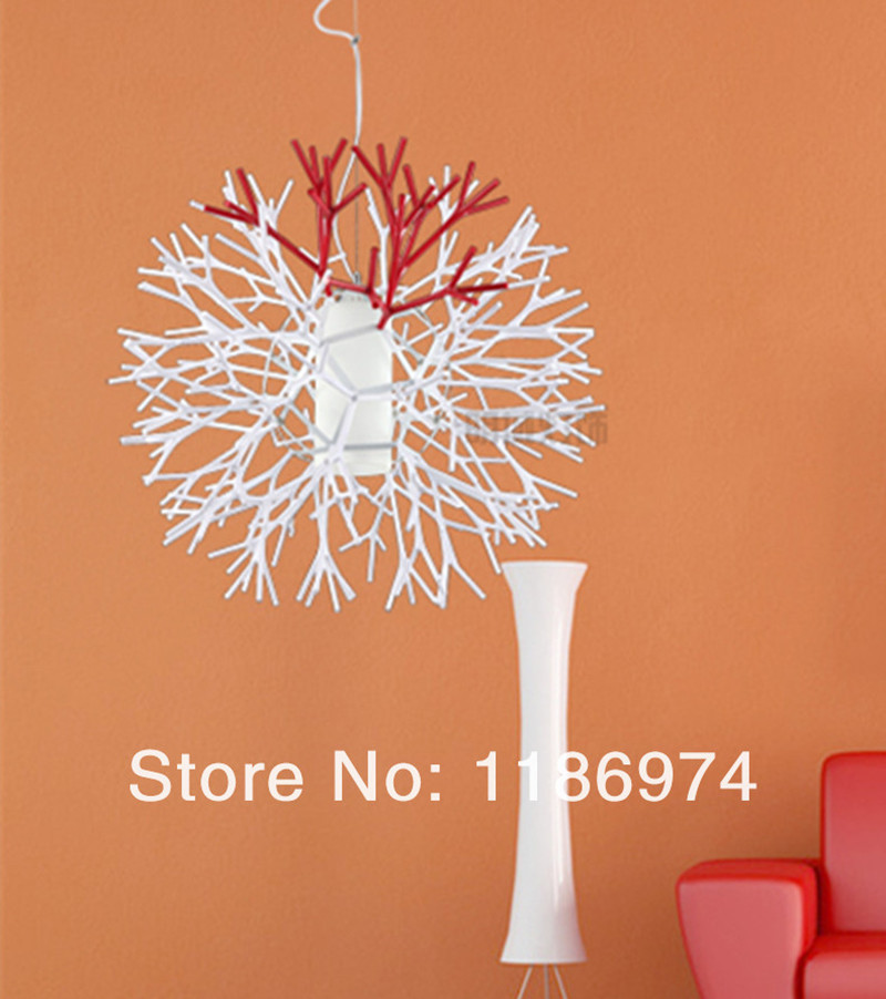 Kitchen modern coral pendant light creative branch pendant lamps dining room children room bedroom kids hanging light fixtures