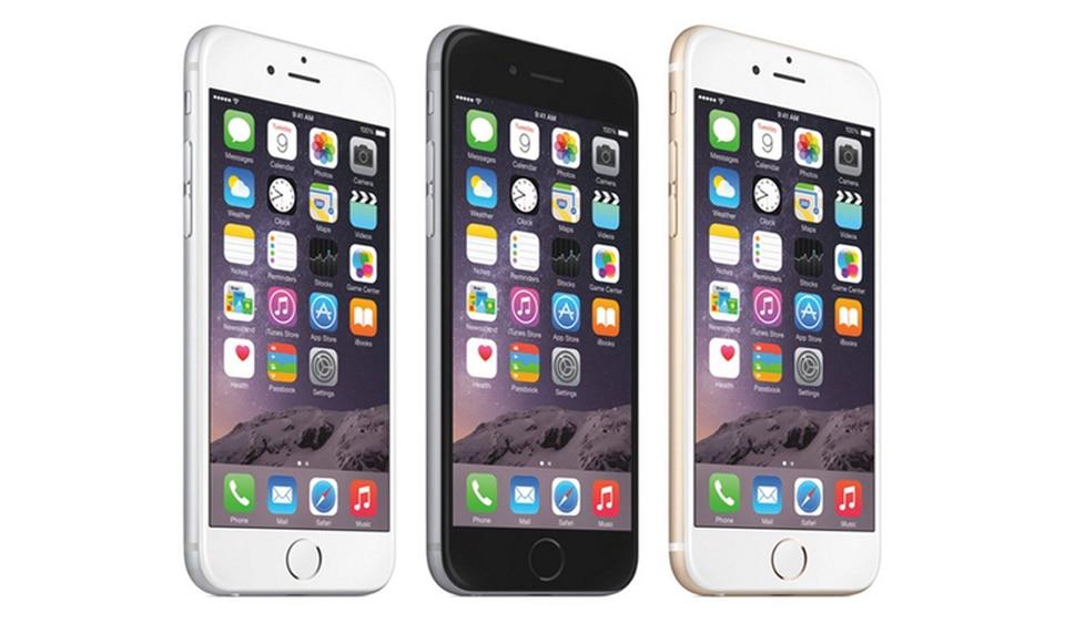 Разблокирована Apple iPhone 6 1 ГБ Оперативная память 4.7 дюймов iOS Dual Core 1.4 ГГц 16/64/128 ГБ встроенная память 8.0 МП Камера 3G WCDMA 4 г LTE использовать мобильный телефон