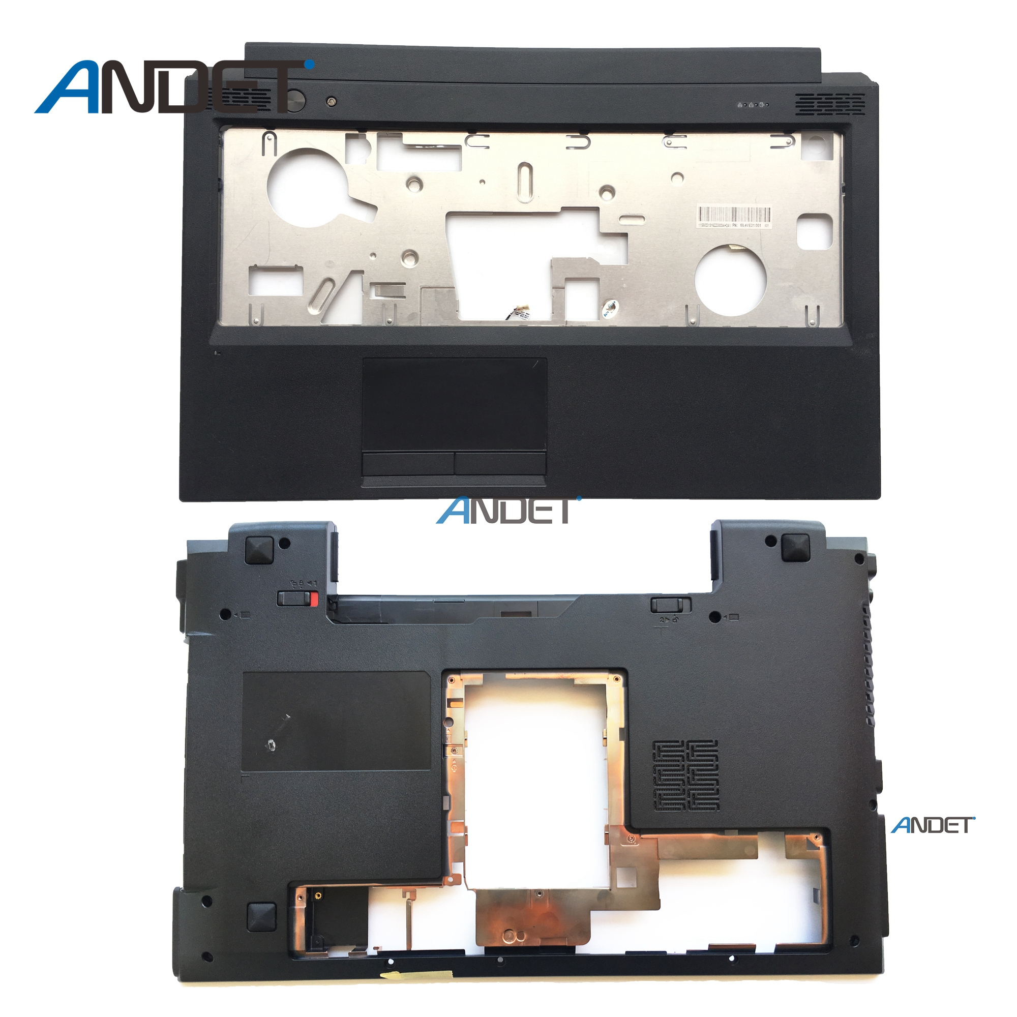 New Original For Lenovo B570E B575 B570 B575E Palmrest Upper Case + Bottom Case Base Cover Without Touchpad