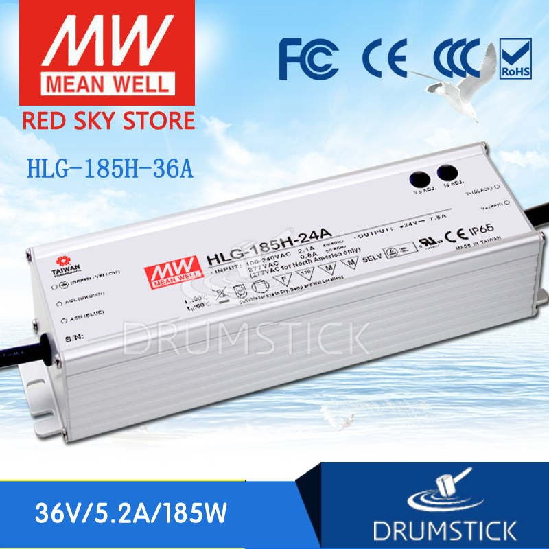 Best-selling MEAN WELL HLG-185H-36A 36V 5.2A HLG-185H 36V 187.2W Single Output LED Driver Power Supply A typeBest-selling MEAN WELL HLG-185H-36A 36V 5.2A HLG-185H 36V 187.2W Single Output LED Driver Power Supply A type