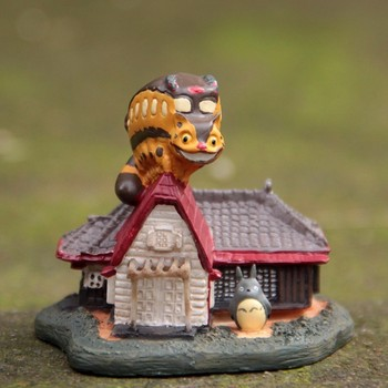 Totoro lalek Miniatura domek dla lalek ogród domu Mini Bonsai dekoracji miniaturowe rzemiosło Ornament Micro DIY ciasto Decor