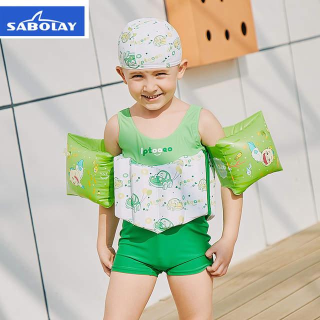 04637570b5 Online Shop Children's Swimwear Boys Swimsuit Buoyancy Surfing Floating  Swimming Clothes Bathing Suit Toddler Swim Diaper Vest Rash Guard |  Aliexpress ...