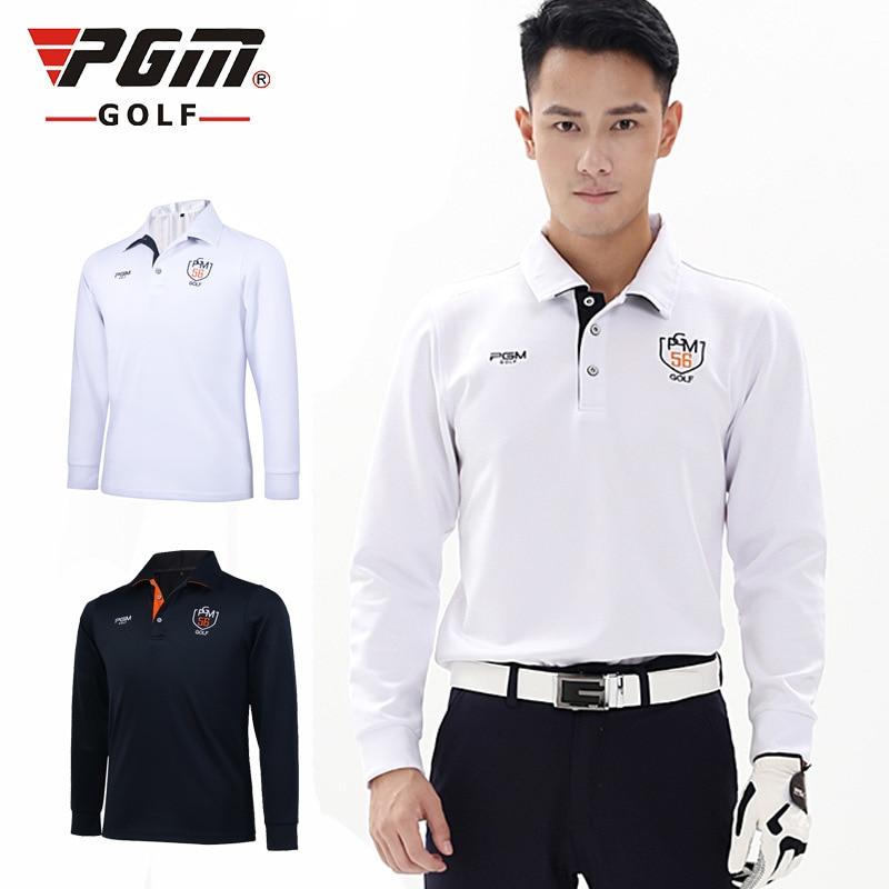 PGM Brand 2018 Fit  mens Men Top t Shirts Quick Dry Spring Long Sleeve T shirt Ropa De Golf Clothes Men Table Tennis Shirt