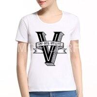 Summer Harajuku BTS Bangtan Boys T Shirt Letter V Women S Short Sleeved Music Punk T