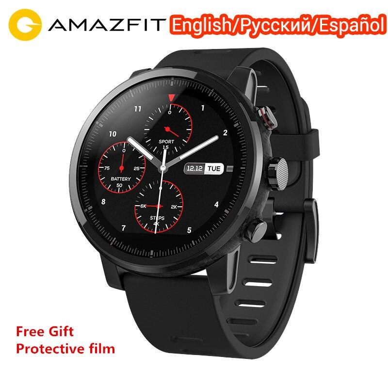 Xiaomi Huami Amazfit Stratos 2 montre intelligente Version mondiale sport Smartwatch avec GPS PPG moniteur de fréquence cardiaque 5ATM étanche