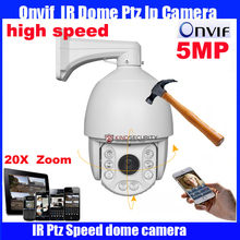 7 inch Full HD-IP high Speed Dome Camera Onvif 5Megapixel 20X optical zoom Network IP PTZ camera