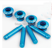 GV DL003 Car Door Lock Pins With Aluminum Alloy Anodized To Red Blue Yellow For Chevrolet