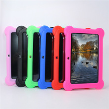 "Niños Marca Tablet PC 7 ""niños tablet Android 4.4 de Allwinner A33 Quad Core reproductor de google wifi 8 GB 7 colores Funda de Silicona de Regalo"
