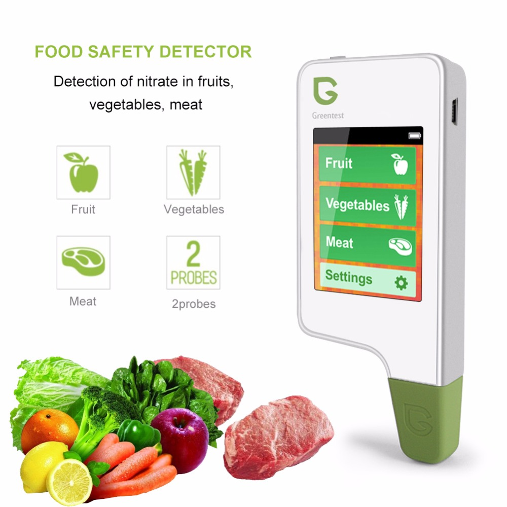 GREENTEST 2 Digital Food Nitrate Tester Fruit Vegetable Meat Nitrate Detection Health Care Food Environmental Safety Detector