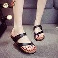 Nuevo Verano de Las Sandalias De Corcho Diapositivas Pisos Amantes Zapatillas mujer Casual Slip On Zapatos Flip Zapatillas Cuñas Playa Plataforma
