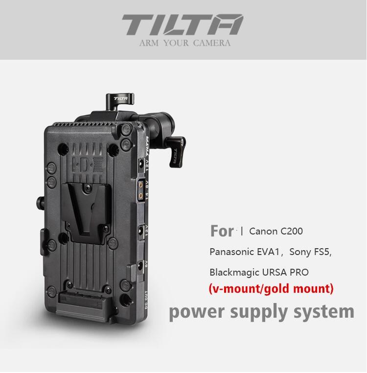 Tilta V-LOCK V Mount Battery Plate Power supply fr C200 SONY FS5 EVA1 BMD camera