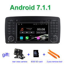 2 DIN 1024*600 Android 7.1.1 Dvd-плеер Автомобиля GPS для Mercedes/Benz R Class W251 R280 R300 R320 с Wi-Fi BT CANBUS Радио