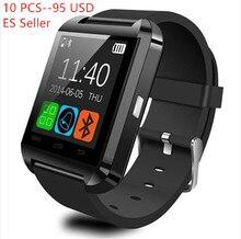 10 STÜCKE SCHWARZ SmartWatch Phone Kamerad U8 Bluetooth Für IOS Android Samsung HTC LG Sony Telefon mit Kostenloser Versand