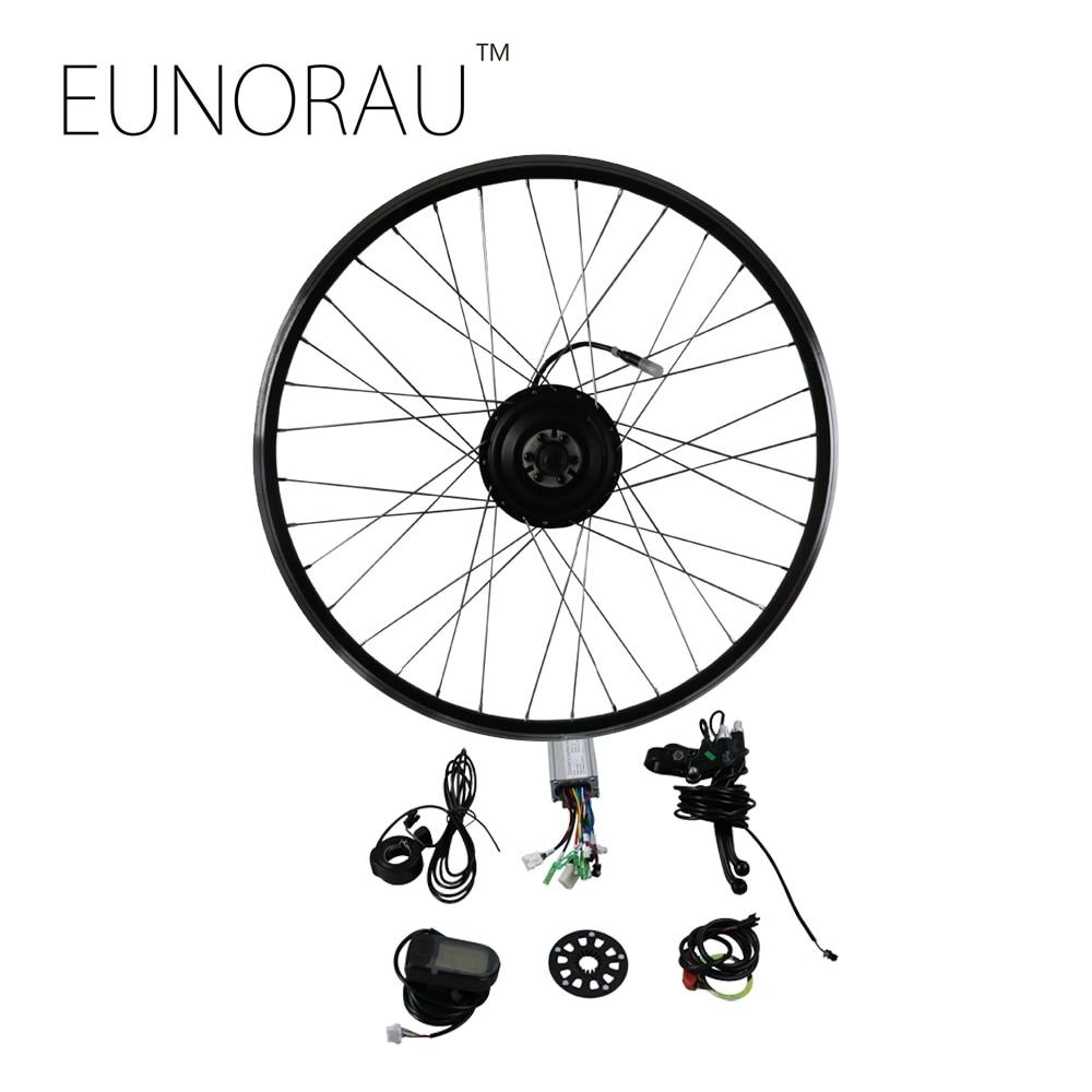 EUNORAU 36V250W front hub wheel motor kit Electric Bike Conversion Kit eunorau 48v500w electric bicycle rear cassette hub motor 20 26 28 rim wheel ebike motor conversion kit