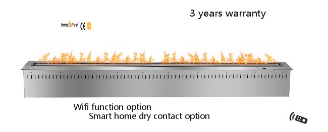 60 Inch Silver Or Black Intelligent Remote Control Ethanol Heater Fireplace Insert