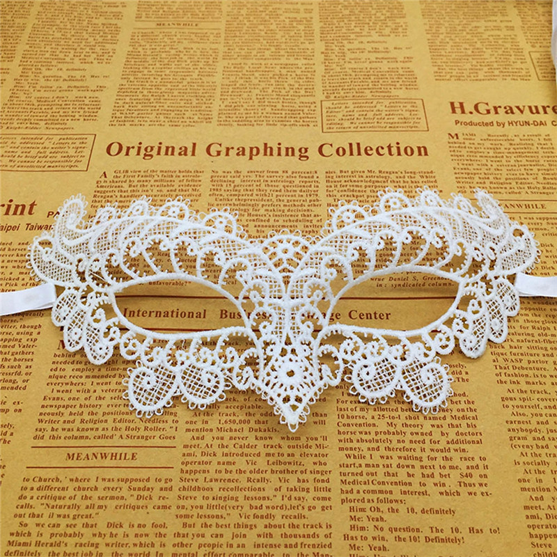 Women Sexy White Lace Eye Mask 13 Styles To Choose For Party Costumes Carnival Mask For Anonymous Mardi