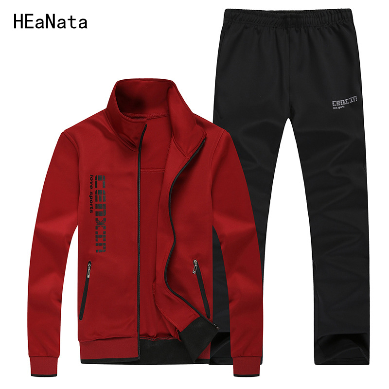 New Fashion Autumn Winter Tracksuits Men Set Thicken Fleece Hoodies+ Pants Suit Spring Sweatshirt Jogging Male Hoodie Men Suits