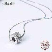 Женское Ожерелье чокер из серебра 925 пробы с белым кубическим