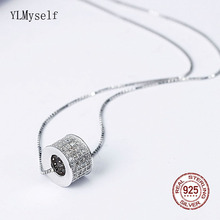 Good looking real 925 Sterling Silver Choker Necklace White Cubic Zirconia ball design silver Jewelry for women