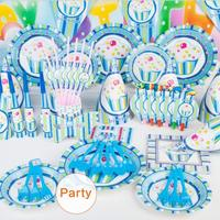 Cute Happy Birthday Prince Ice Cream Cartoon Pattern Theme Party Decoration Gift For Kids Party Event