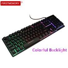 104 Keys Wired Keyboard Computer Gaming Keypad LED Backlit keycaps mechanical Game teclado RGB for PC